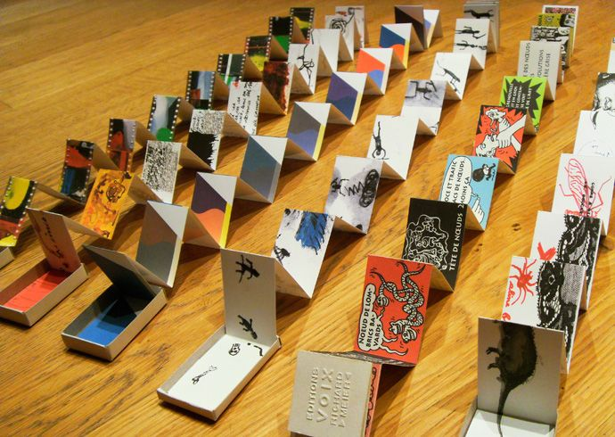 Visual stories in a matchbook--LOVE! http://www.cosyworks.com/index.php?/allumettes/collection--presentation/