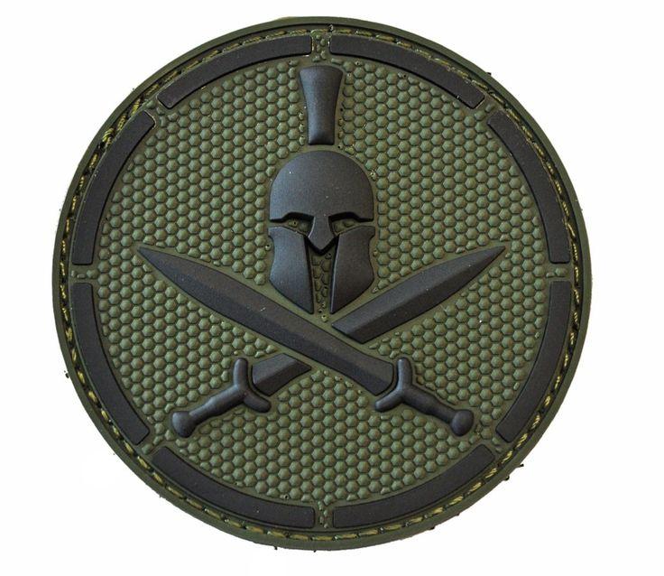 morale patches | Milspec Monkey Spartan Helmet PVC Velcro Tactical Morale Patch MSM