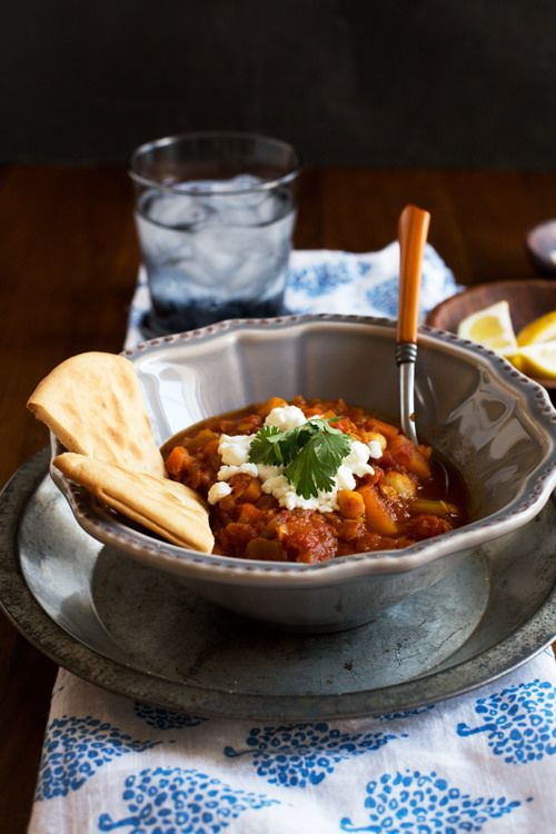 Spicy Lentil Stew with Butternut Squash, Chickpeas, and ...
