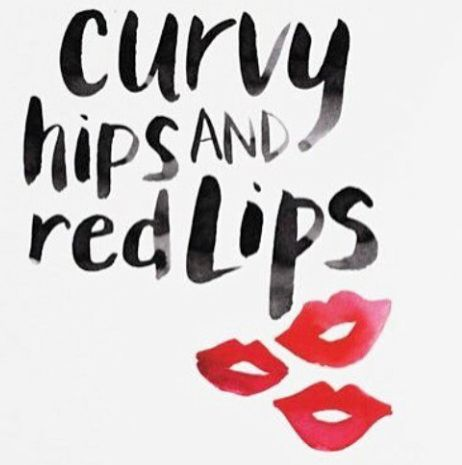 Curvy Hips & Red Lips.