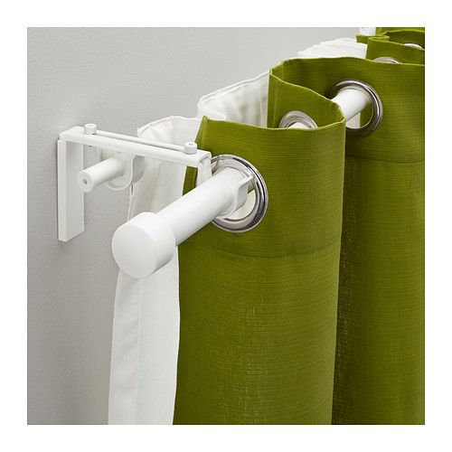 rcka hugad double curtain rod combination ikea have sheers and heavier curtain for more privacy