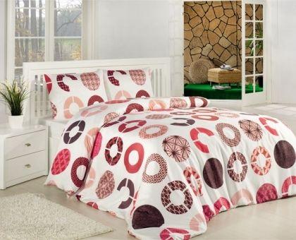 Купить постельное белье ALTINBASAK MIA розовое 70х70 1,5-сп от производителя Altinbasak (Турция)