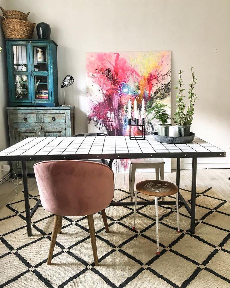 Klinkebord - Flisebord, Homemade #DIY - IG (@nynnesdagbog_)