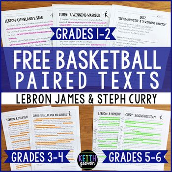 FREE reading passages that allow you to differentiate to meet the needs of your students. These engaging passages about famous NBA players are written on a range of reading levels. Quizzes and writing prompts are included.