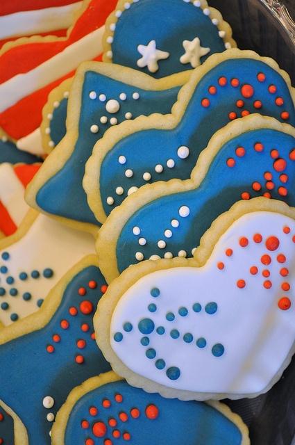 4th of July Cookies  by Sweet Elisabeth, via Flickr