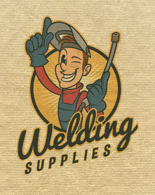 Retro Vintage Cartoon Welder Mascot Welding Logo By Suhandi On Envato Elements Welding Logo Vintage Cartoon Cartoon Logo