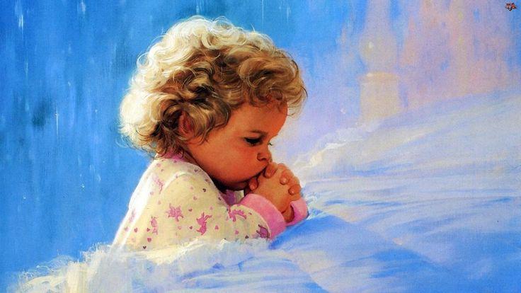 Картинка. Детская молитва.