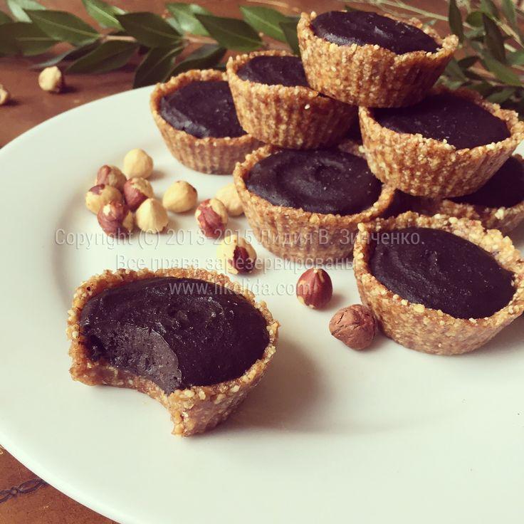 Шоколадно-фасолевые тарталетки (без муки, глютена, без масла, сахара, веганские)