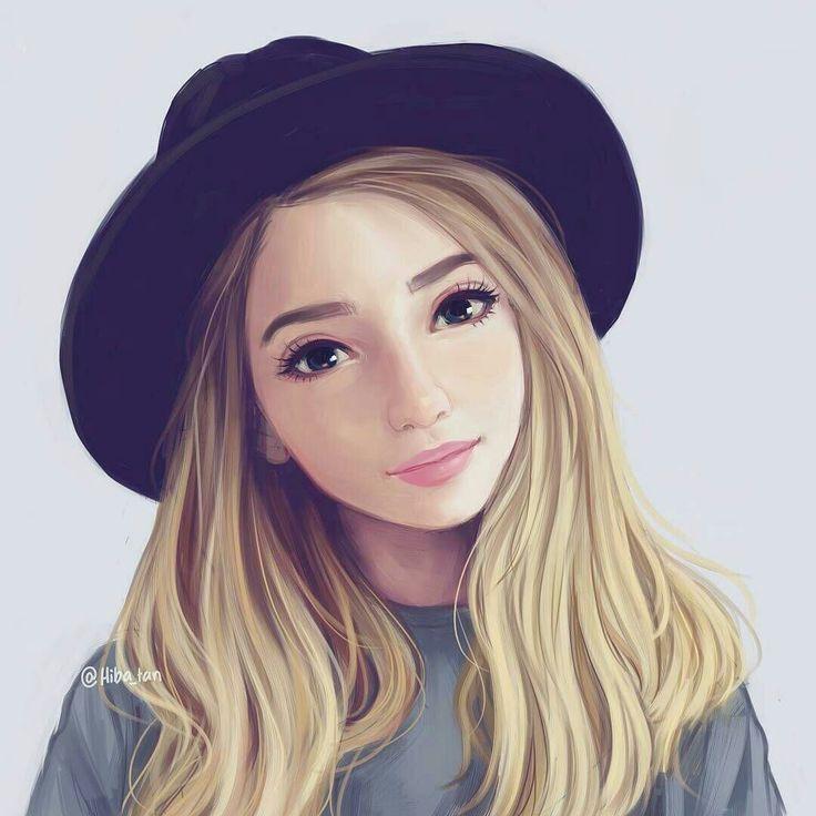 Картинки девушек милые рисунки