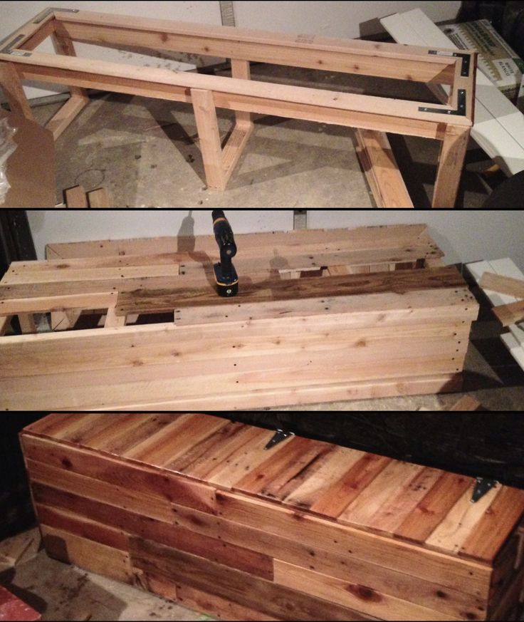 25 unique pallet furniture instructions ideas on for What to make out of those old wood pallets