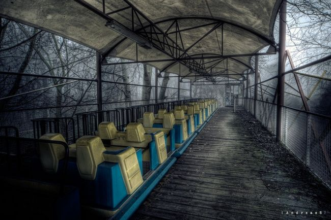Abandoned amusement park in Berlin
