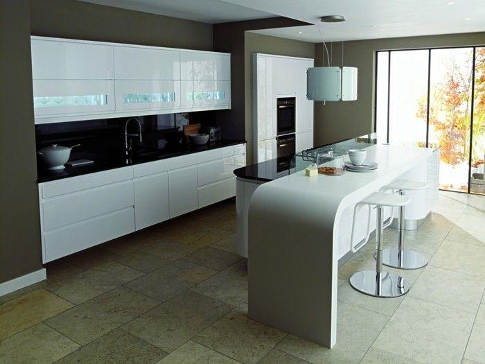 Stunning k chenarbeitsplatten wei e und schwarze arbeitsplatten stilvolle farbkombination