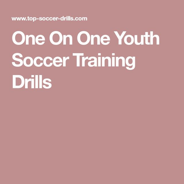 One On One Youth Soccer Training Drills