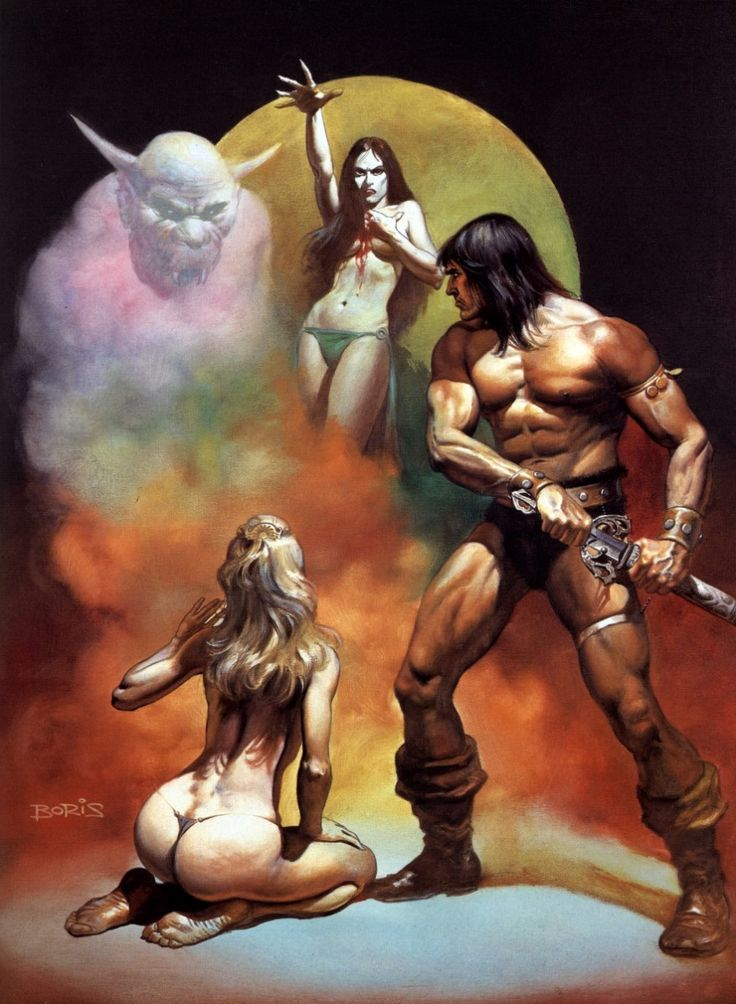 One of my favorite Vallejo Conan paintings. Can't tell which story this relates.