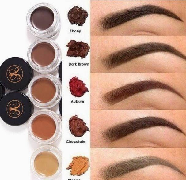 Tonalidades para las cejas #Maquillaje #Bodas #Novias