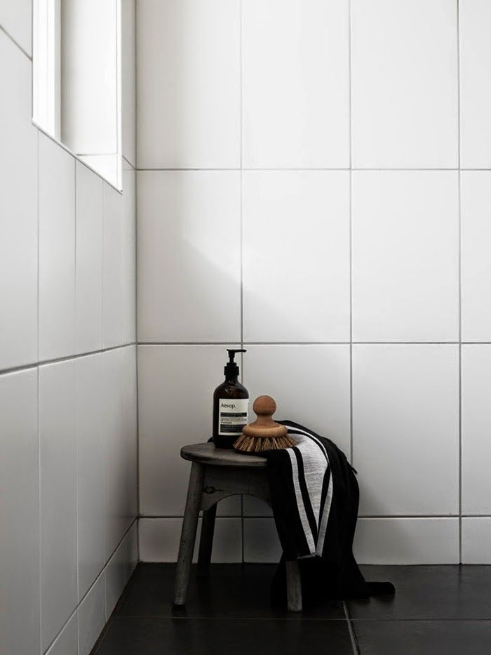 Excellent To Da Loos Bathrooms With White Square Tiles And Dark Grout Lines