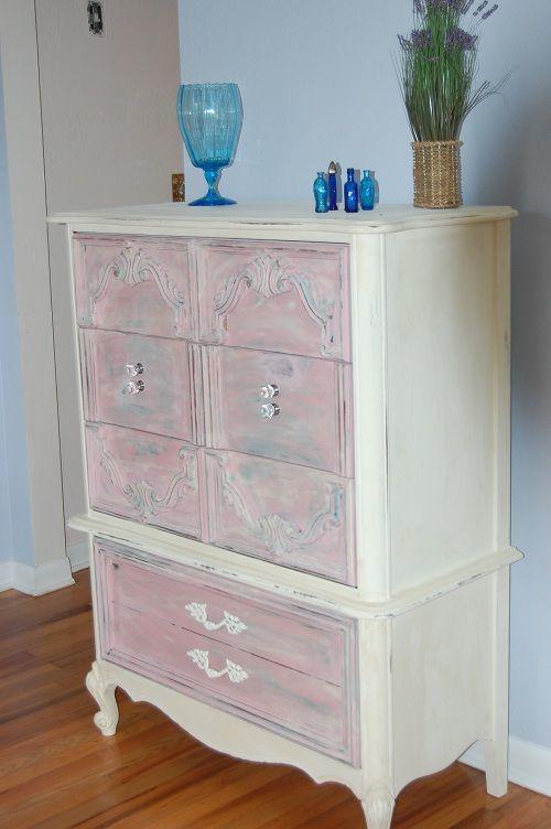 Pink And Grey Dresser