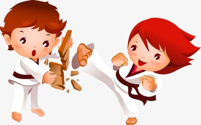 الجودو الطفل كرتون المثال التوضيحي الأطفال Png وملف Psd للتحميل مجانا Taekwondo Children Illustration Cartoon Illustration