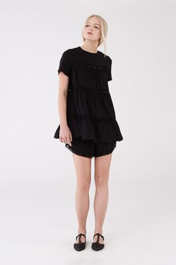 Fountain Top and Shorts in Black