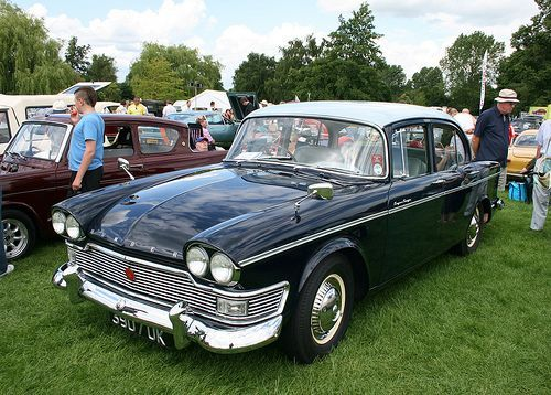 A 1962 Humber Super Snipe. First British car to have twin headlamps! 3 litre engine, power steering - an effortless 100 mph (downhill, following wind). [Image by Albert S. Bite, via Flickr.]
