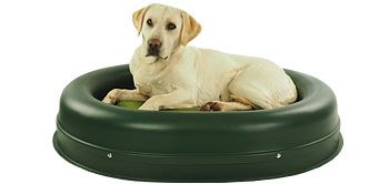 The Really Tough Tuffie is a dog bed for destructive dogs that enjoy chewing!