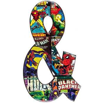 Marvel Heroes Embossed Tin Symbol - Ampersand