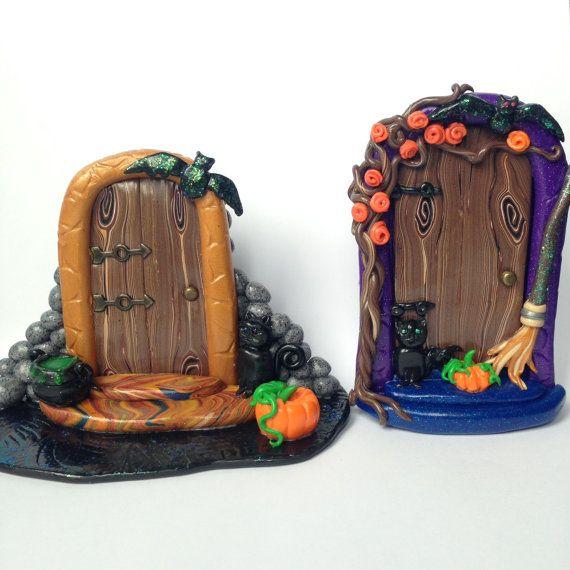 Halloween fata porta. Porta spaventoso fimo di SerenissimaJewels