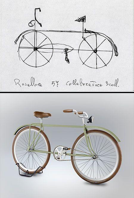 Gianluca Gimini: 367 Menschen sollten aus dem Gedächtnis ein Fahrrad zeichnen - diese baute ein Designer am PC nach