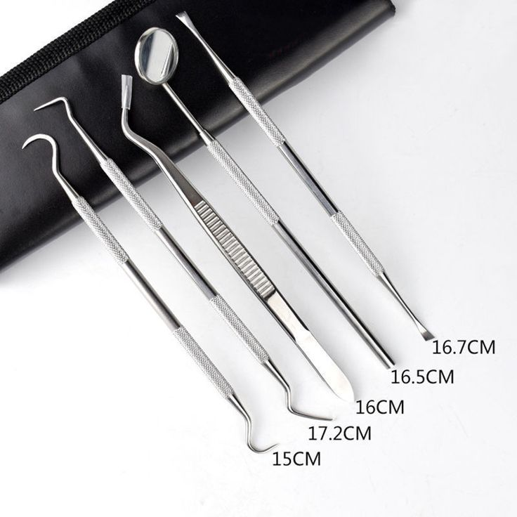 5pcs/set Dental Tartar Scraper tool tooth cleaner Calculus Plaque Remover Kit #Shaind2014