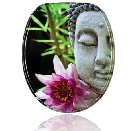 Gorgeous Buddha slow close toilet seat made of wood.It's ergonomically D-shape gives this seat extra comfort.✓Perfect Fit✓Anti-bacterial✓Sturdy Hinges