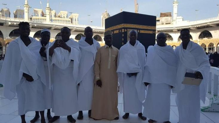 The Muslim members of Ghana national football team arrived Sunday to perform umrah, and ask for Allah's blessings.