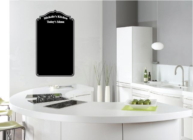 Personalised with your name!  COLOUR:- Black  FREE: Liquid Chalk Pen (valued at $7.50)  The photo is a representative only. Please measure the area you want to place your decal and order the correct size.