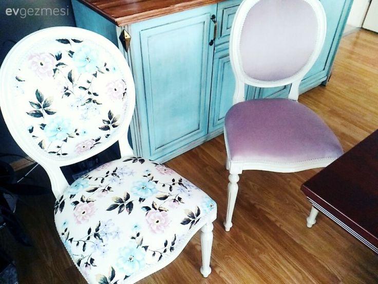12 yıldır kullandığım koltuklarımı uzun süredir döşemesini değiştirmeyi düşünüyodu sonunda renklere karar verip yeniledik sandalyeler annemden 25 yıllık 2. yenilenmesi aklımda hiç mavi yokken bu sited...