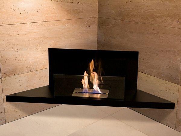 Biokominek Radius Corner Flame Black | sklep PrezentBox - akcesoria, zegary ścienne, prezenty