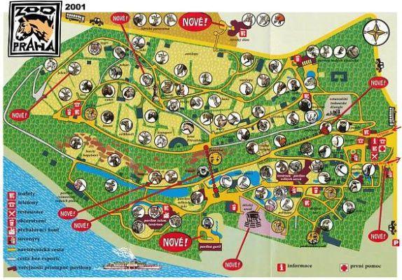Map of ZOO Praha - 2001