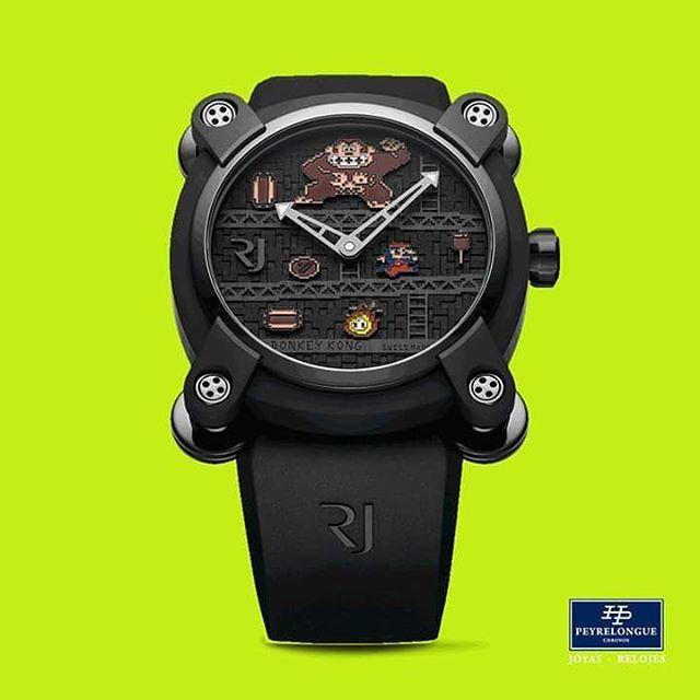 REPOST!!!  #TiempoPeyrelongue / #Baselworld2017  RJ - ROMAIN JEROME,  rinde tributo al ultraclásico juego de Arcade Donkey Kong. / #watchoftheday / #watchmania / #reloj / #dailywatch / #watchfam / #watchnerd / #horology / #watchgeek / #watchaddict / #luxury / #watchcollector / #timepiece / #instawatch / #watchofinstagram  Photo Credit: Instagram ID @peyrelonguec
