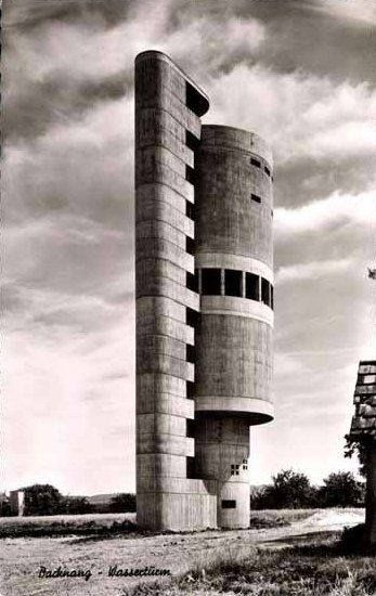 Water Tower (1959-61) in Backnang, Germany, by Helmut Erdle