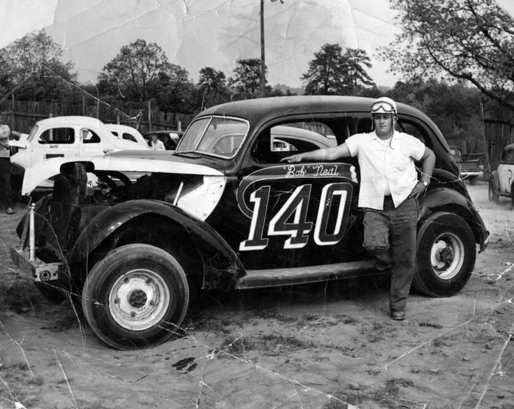 Earl Brooks And His Vintage Race Car Great Photo