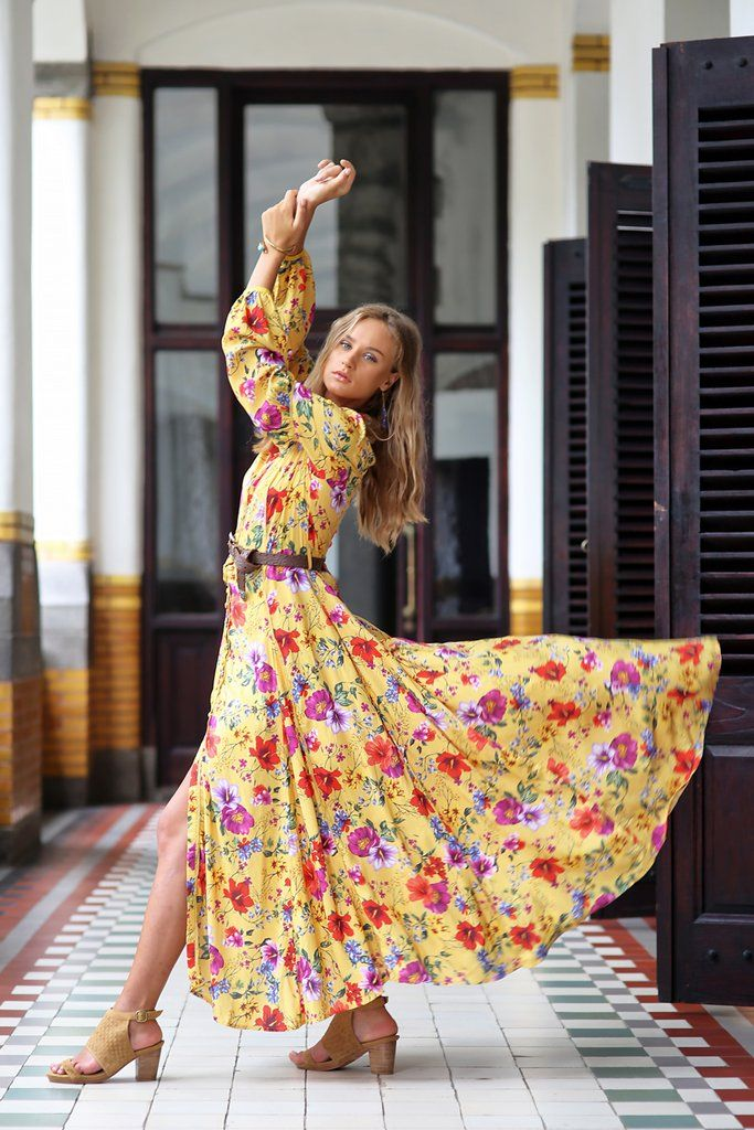 889efa64f342 The Gypsy Queen Maxi Dress - Dandelion   Tulleandbatiste-Best choice ...