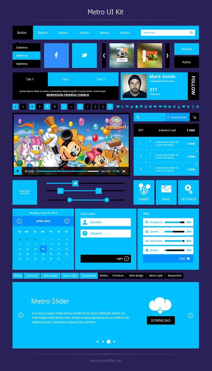 Free Metro UI Kit