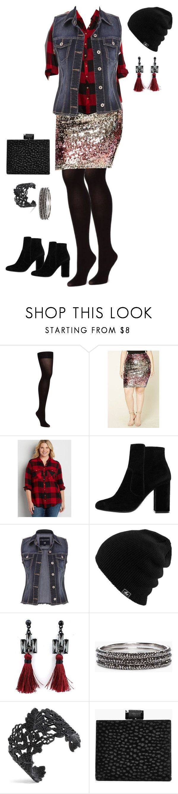 """Punky Glam - Plus Size"" by pamelaflores-1 ❤ liked on Polyvore featuring maurices, MANGO, Chico's and Boohoo"