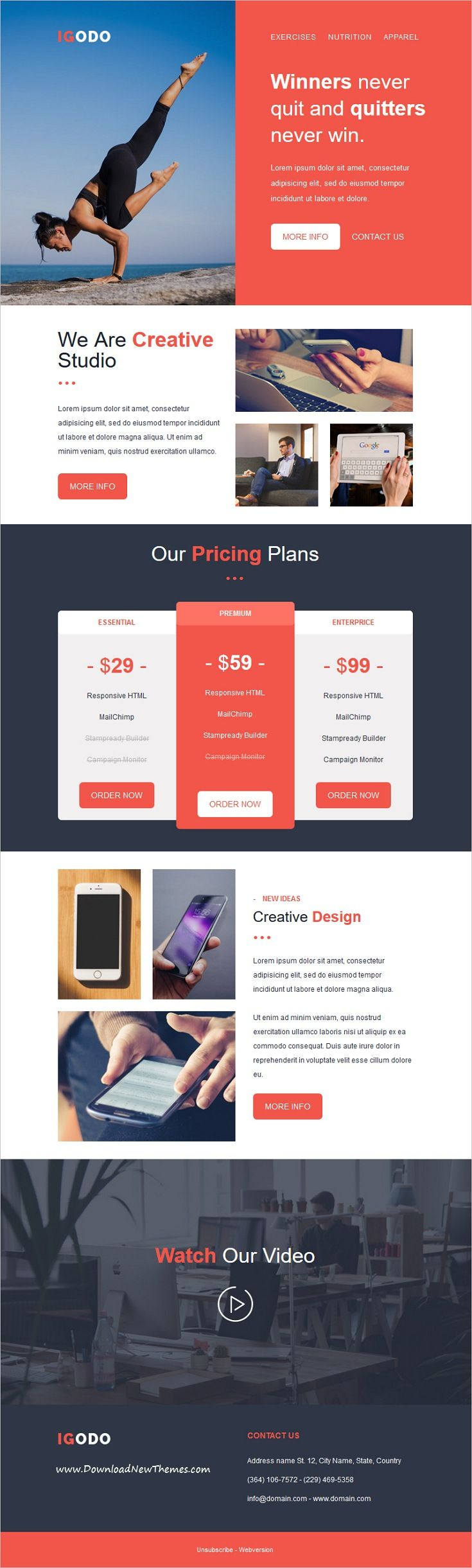 Best 25 mailchimp newsletter templates ideas on pinterest for Modern newsletter design