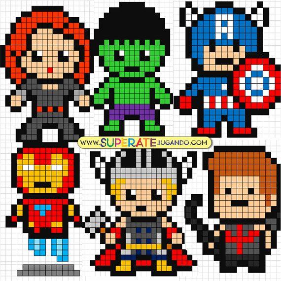 Pixel Heroes 1 Avengers Sumas Y Restas Archivo De Excel Para Hacer Hojas De Ejercicios Automatizado Lua Ponto Cruz Ponto Cruz Infantil Padroes De Lona De Plastico