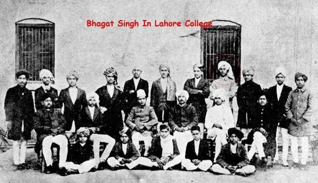 Rare picture of Bhagat Singh in Lahore college