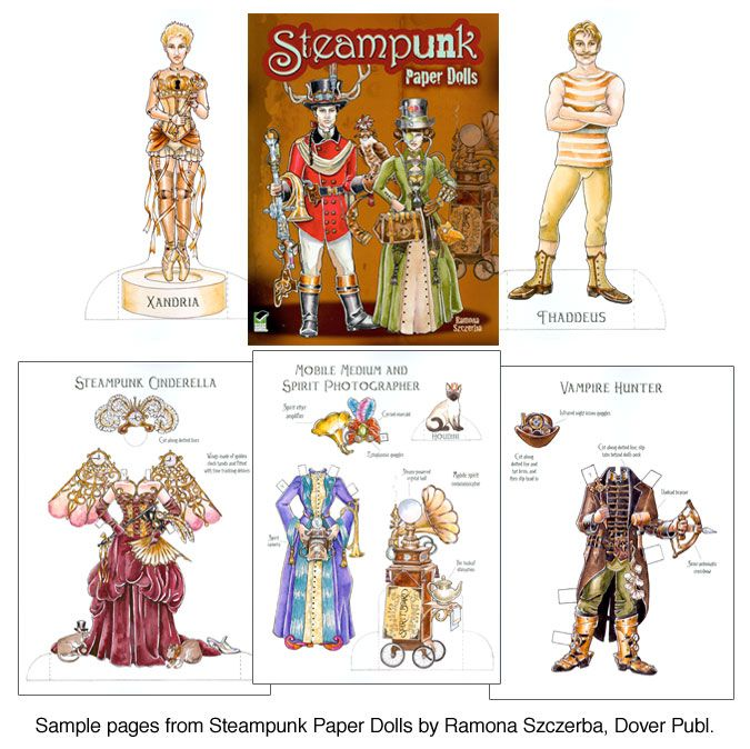 Best Paper Doll Steampunk Images On   Paper Crafts