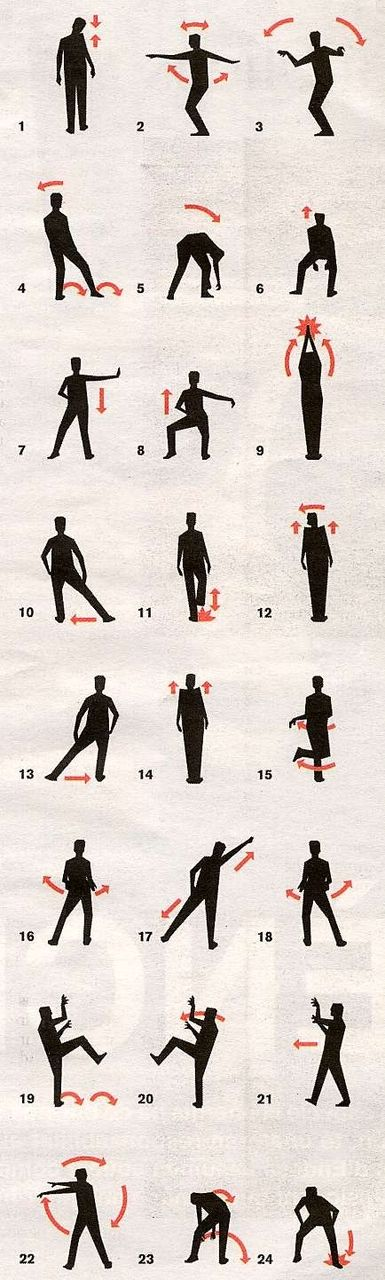 Thriller dance step by step....YES!!!!!  You never know when you'll need to bust out these dance moves.