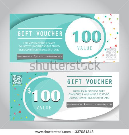 confetti gift voucher certificate coupon template, can be use for business shopping card, customer sale and promotion, layout, banner, web design. vector illustration