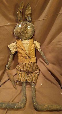 Primitive Folk Art Doll OOAK Raggedy Ann Mustard Seed Fat Hen Farm Cloth Calico