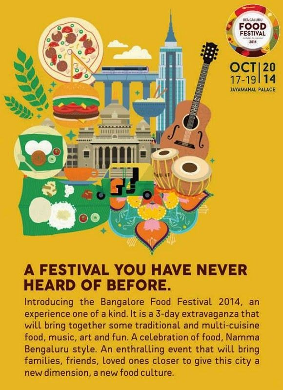 The Bangalore Food Festival 2014 - three mouth-watering days! | Music Malt   More info at - http://www.musicmalt.com/2014/09/bangalore-food-festival-2014.html