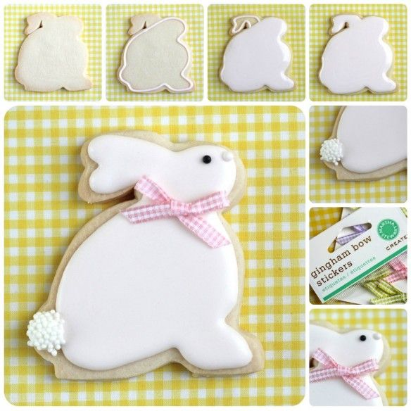 Bunny Cookies - with tutorial.  If I find some patience, maybe I'll try these this year!